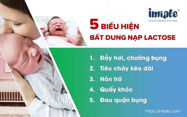 II. 5 biểu hiện điển hình của chứng không dung nạp lactose ở trẻ sơ sinh và trẻ nhỏ 1