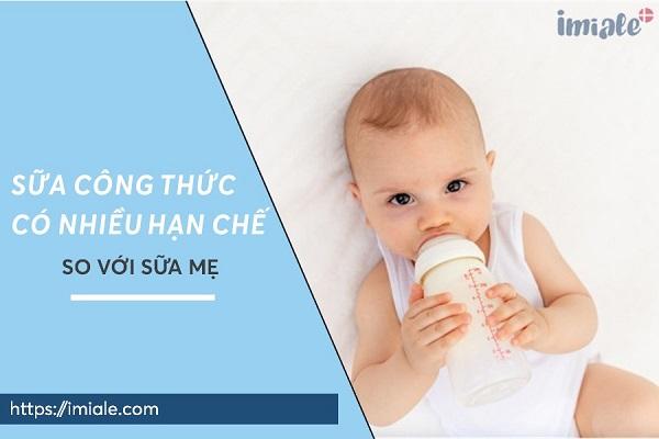 sữa công thức có nhiều hạn chế so với sữa mẹ