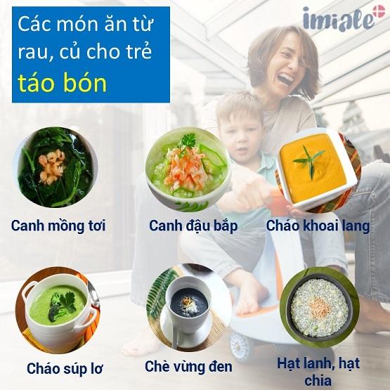 1. Các món từ rau, củ cho trẻ táo bón, táo bón ăn gì cho hết? 1