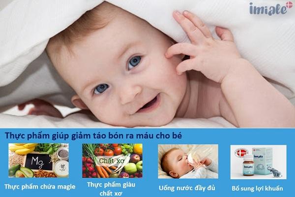 2. Nhóm thực phẩm giúp trị táo bón ra máu triệt để cho bé 1