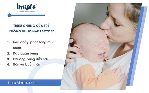 Triệu chứng trẻ không dung nạp lactose