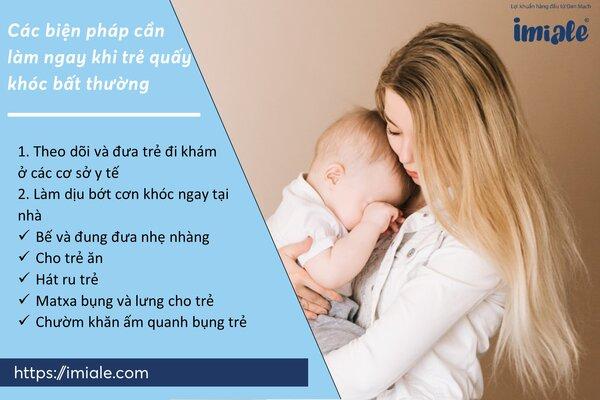 III - Các biện pháp cần làm ngay khi trẻ quấy khóc bất thường 1
