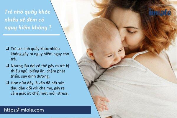 II - Trẻ nhỏ quấy khóc nhiều về đêm có nguy hiểm không? 1