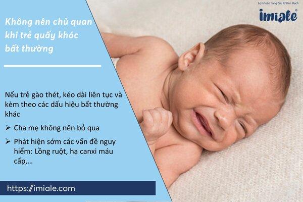 II - Vì sao không nên chủ quan khi trẻ quấy khóc bất thường 1