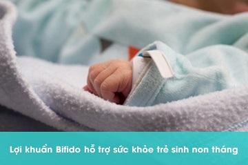 lợi khuẩn Bifido cho trẻ sinh non tháng