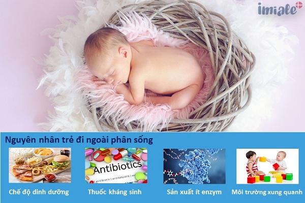 I. Nguyên nhân vì sao trẻ sơ sinh đi ngoài phân sống 1