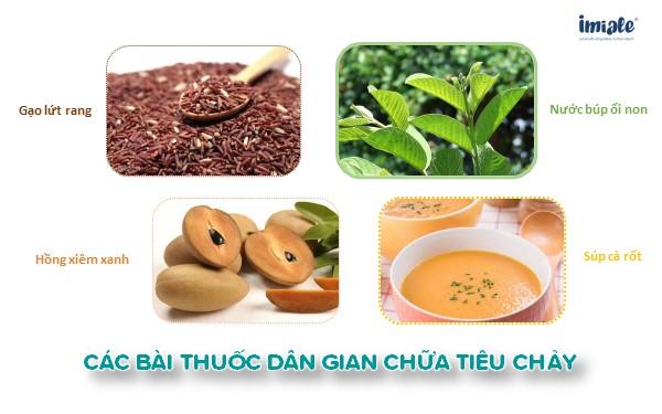Các bài thuốc dân gian chữa tiêu chảy (gạo lứt, hồng xiêm xanh, búp ổi non, súp cà rốt)