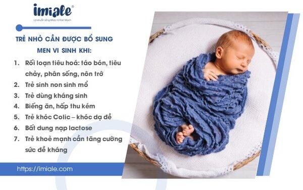 2. Khi nào mẹ nên bổ sung men vi sinh cho trẻ 1