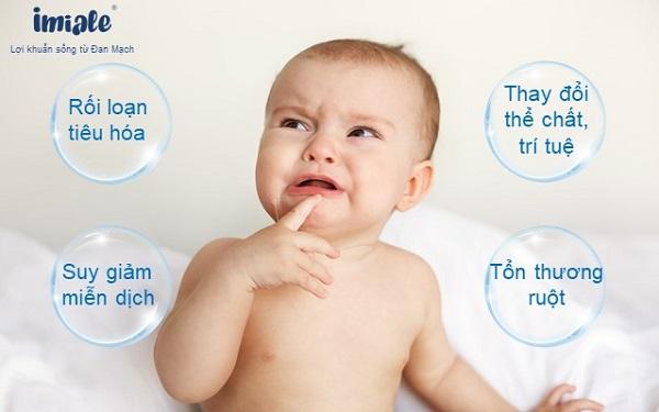 III. Hậu quả khôn lường khi trẻ rối loạn hệ vi khuẩn đường ruột 1
