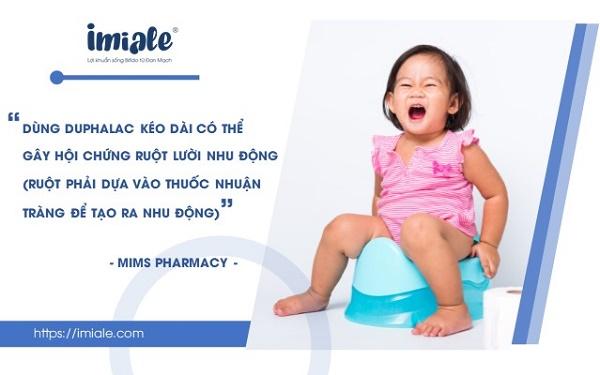 5. Có nên dùng Duphalac kéo dài và thường xuyên cho trẻ? 1
