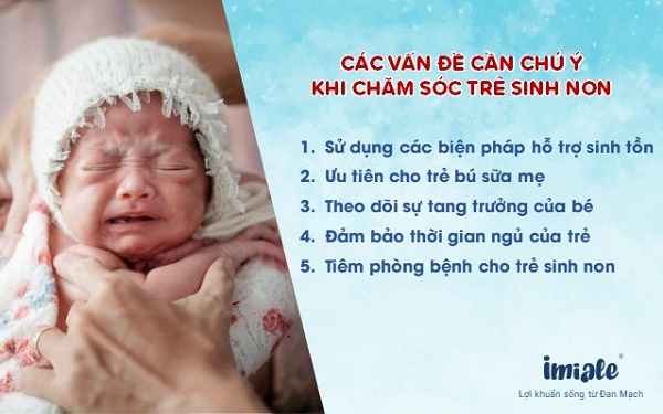 III - Các vấn đề cần chú ý khi chăm sóc trẻ sinh non 1