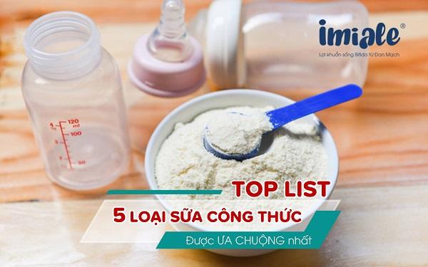 [TOP LIST] 5 loại sữa công thức được ưa chuộng nhất trên thị trường 1