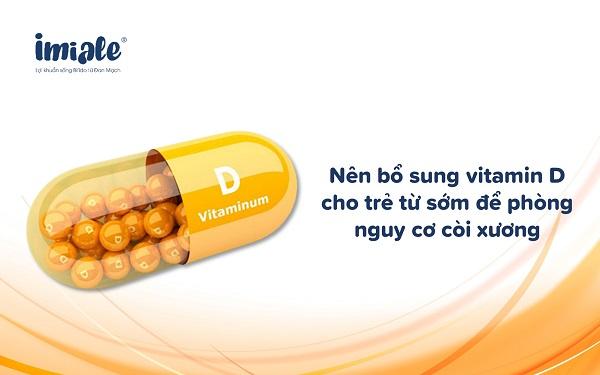 bổ sung vitamin D từ sớm