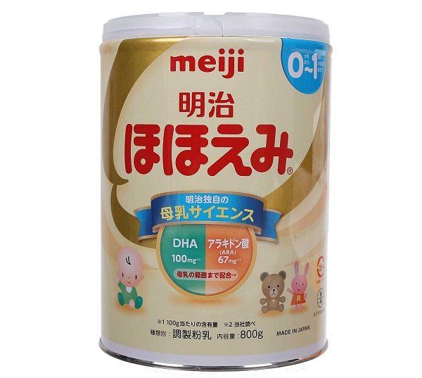 1. Sữa Meiji (Nhật Bản) 1