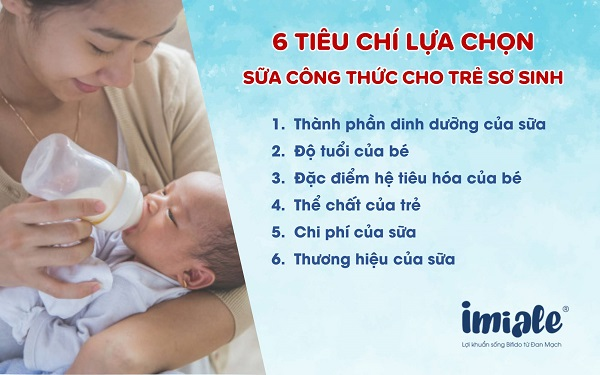 IV - Tiêu chí lựa chọn sữa công thức cho trẻ sơ sinh 1