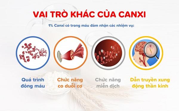 Vai trò Vai trò khác của Canxikhác của Canxi