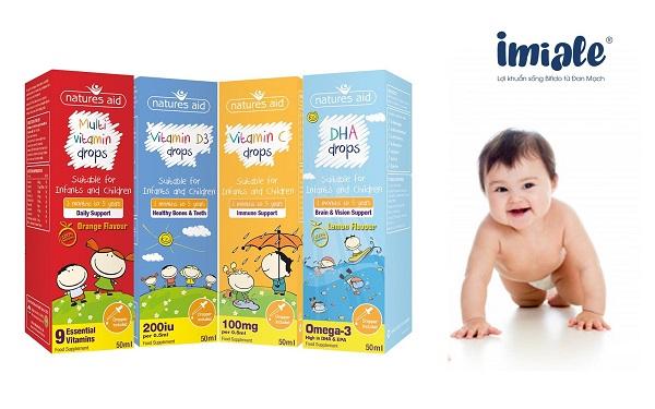 vitamin tổng hợp cho bé - Multi Vitamin Drop Natures Aid