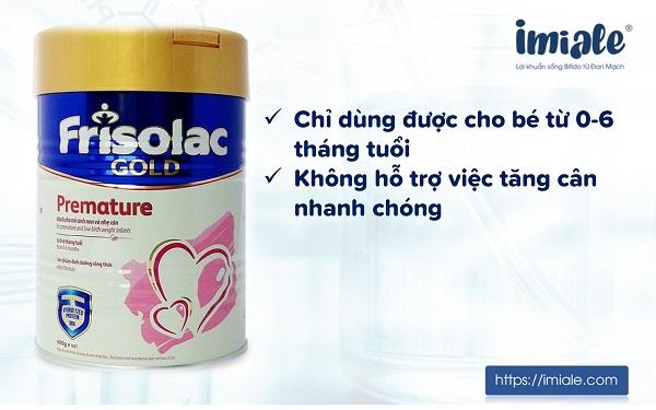 3.6. Sữa Frisolac Gold Premature 1