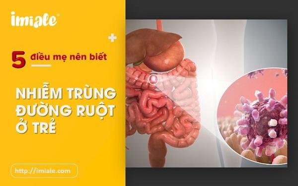 nhiễm trùng đường ruột hay nhiễm khuẩn đường ruột ở trẻ