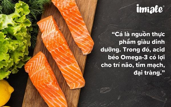 viêm đại tràng nên ăn cá
