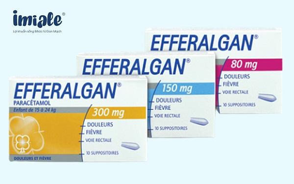 2.5. Paracetamol đặt trực tràng (EFFERALGAN) 1