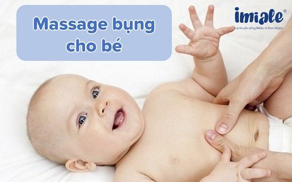 massage bụng cho bé