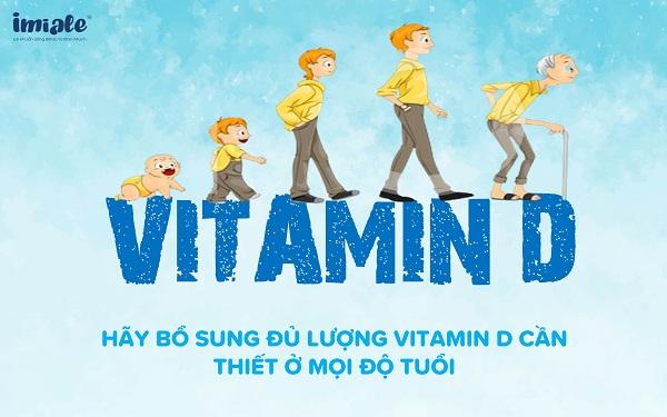 Nhu cầu bổ sung vitamin D
