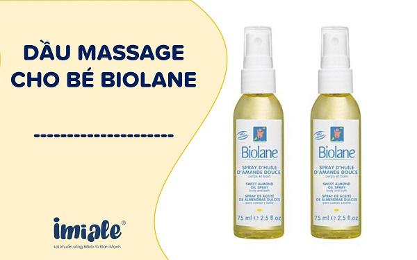 Dầu massage cho bé Biolane
