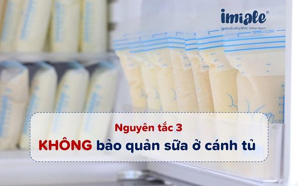 nguyên tắc 3 bảo quản sữa mẹ