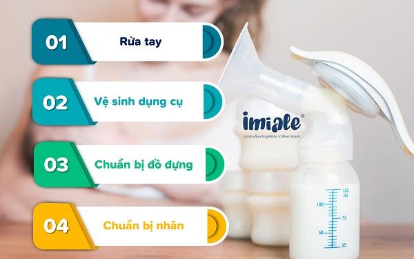nguyên tắc trước khi vắt sữa